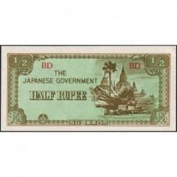 Birmanie - Pick 13b - 1/2 rupee - Série BD - 1942 - Etat : NEUF
