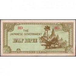 Birmanie - Pick 13b - 1/2 rupee - Série BD - 1942 - Etat : SUP