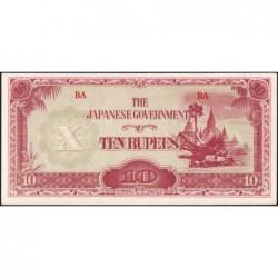 Birmanie - Pick 16b_2a - 10 rupees - Série BA - 1942 - Etat : SPL