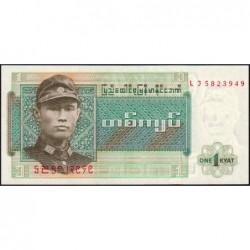Birmanie - Pick 56 - 1 kyat - Série LJ - Etat : NEUF