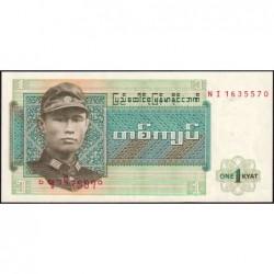 Birmanie - Pick 56 - 1 kyat - Série NI - Etat : NEUF