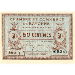Bayonne - Pirot 21-40 - 50 centimes - Série y - 19/05/1917 - Etat : NEUF