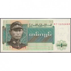 Birmanie - Pick 56 - 1 kyat - Série NT - Etat : NEUF