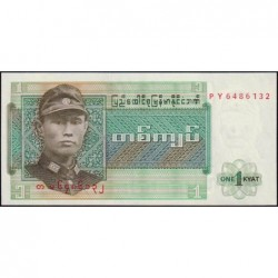Birmanie - Pick 56 - 1 kyat - Série PY - Etat : NEUF