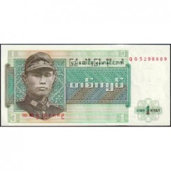 Birmanie - Pick 56 - 1 kyat - Série QG - Etat : NEUF