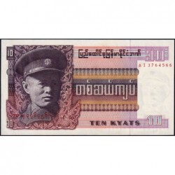 Birmanie - Pick 58 - 10 kyats - Série AI - 1973 - Etat : NEUF