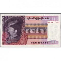 Birmanie - Pick 58 - 10 kyats - Série DB - 1973 - Etat : NEUF