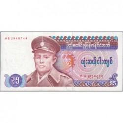 Birmanie - Pick 63 - 35 kyats - Série HB - 1986 - Etat : pr.NEUF