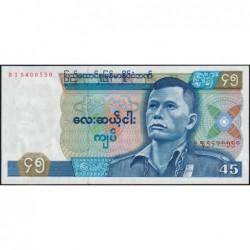 Birmanie - Pick 64 - 45 kyats - Série BI - 1987 - Etat : NEUF
