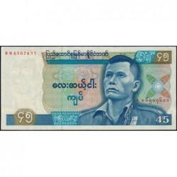 Birmanie - Pick 64 - 45 kyats - Série BN - 1987 - Etat : pr.NEUF