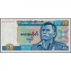 Birmanie - Pick 64 - 45 kyats - Série BO - 1987 - Etat : NEUF