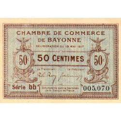 Bayonne - Pirot 21-42 - 50 centimes - 1917 - Etat : SUP
