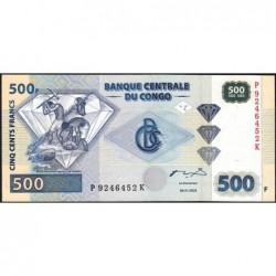 Rép. Démocr. du Congo - Pick 96B - 500 francs - Série P K - 04/01/2002 - Etat : NEUF