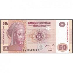 Rép. Démocr. du Congo - Pick 97 - 50 francs - Série KA Y - 31/07/2007 - Etat : NEUF