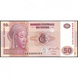 Rép. Démocr. du Congo - Pick 97 - 50 francs - Série KB D - 31/07/2007 - Etat : NEUF
