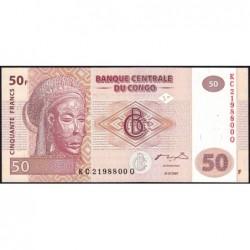 Rép. Démocr. du Congo - Pick 97 - 50 francs - Série KC Q - 31/07/2007 - Etat : NEUF