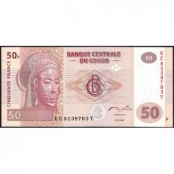 Rép. Démocr. du Congo - Pick 97 - 50 francs - Série KC T - 31/07/2007 - Etat : NEUF