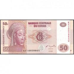Rép. Démocr. du Congo - Pick 97 - 50 francs - Série KC U - 31/07/2007 - Etat : NEUF