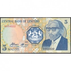 Lesotho - Pick 10 - 5 maloti - Série D - 1989 - Etat : NEUF