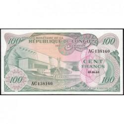 Congo (Kinshasa) - Pick 1a - 100 francs - Série AC - 05/06/1963 - Etat : SUP+