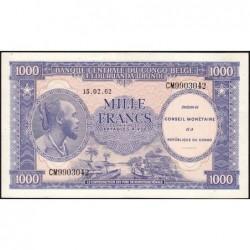 Congo (Kinshasa) - Pick 2a - 1'000 francs - Série CM - 15/02/1962 - Etat : SUP+