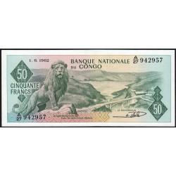 Congo (Kinshasa) - Pick 5a - 50 francs - Série A/27 - 01/06/1962 - Etat : SPL