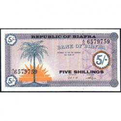 Biafra - Pick 1 - 5 shillings - Série A/O - 1968 - Etat : NEUF