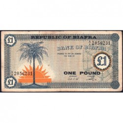 Biafra - Pick 2 - 1 pound - Série A/A - 1968 - Etat : TB-