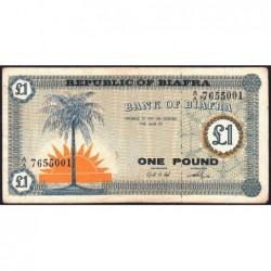 Biafra - Pick 2 - 1 pound - Série A/A - 1968 - Etat : TB