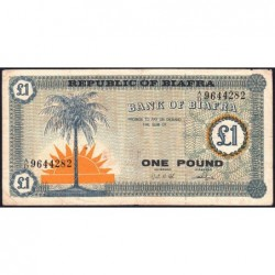 Biafra - Pick 2 - 1 pound - Série A/D - 1968 - Etat : TB