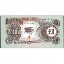 Biafra - Pick 5a - 1 pound - Série DQ - 1969 - Etat : NEUF
