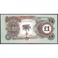 Biafra - Pick 5a - 1 pound - Série DS - 1969 - Etat : NEUF