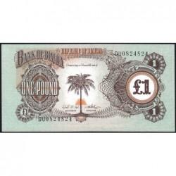 Biafra - Pick 5a - 1 pound - Série DU - 1969 - Etat : NEUF