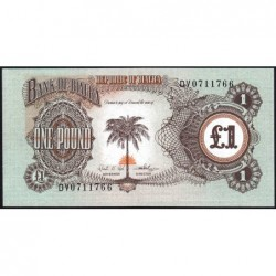 Biafra - Pick 5a - 1 pound - Série DV - 1969 - Etat : NEUF