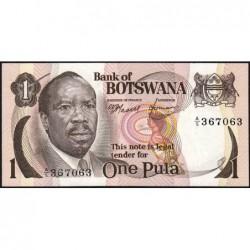 Botswana - Pick 1 - 1 pula - Série A/5 - 1976 - Etat : NEUF