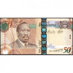 Botswana - Pick 32a - 50 pula - Série AA - 2009 - Etat : NEUF