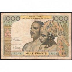 Côte d'Ivoire - Pick 103Af - 1'000 francs - Série A.73 - 1969 - Etat : TB-