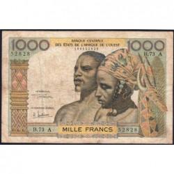 Côte d'Ivoire - Pick 103Af - 1'000 francs - Série B.73 - 1969 - Etat : TB-
