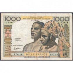 Côte d'Ivoire - Pick 103Ag - 1'000 francs - Série F.76 - 1970 - Etat : TB