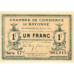 Bayonne - Pirot 21-45 - 1 franc - 1917 - Etat : SUP