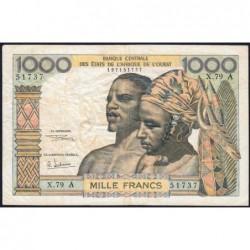 Côte d'Ivoire - Pick 103Ag - 1'000 francs - Série X.79 - 1970 - Etat : TB
