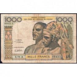 Côte d'Ivoire - Pick 103Ag - 1'000 francs - Série Z.79 - 1970 - Etat : TB-