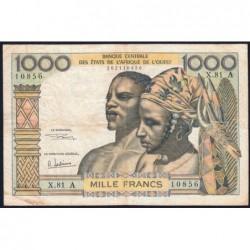 Côte d'Ivoire - Pick 103Ag - 1'000 francs - Série X.81 - 1970 - Etat : TB