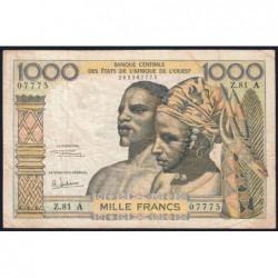 Côte d'Ivoire - Pick 103Ag - 1'000 francs - Série Z.81 - 1970 - Etat : TB-