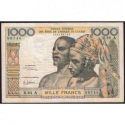 Côte d'Ivoire - Pick 103Ag - 1'000 francs - Série R.84 - 1970 - Etat : TB+
