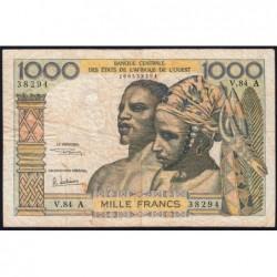 Côte d'Ivoire - Pick 103Ag - 1'000 francs - Série V.84 - 1970 - Etat : TB-