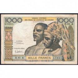 Côte d'Ivoire - Pick 103Ag - 1'000 francs - Série M.85 - 1970 - Etat : TB