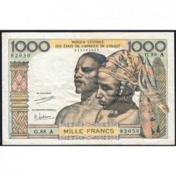 Côte d'Ivoire - Pick 103Ah - 1'000 francs - Série G.88 - 1971 - Etat : TB