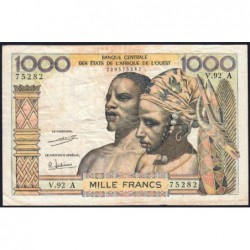 Côte d'Ivoire - Pick 103Ah - 1'000 francs - Série V.92 - 1971 - Etat : TB