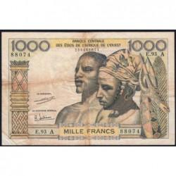 Côte d'Ivoire - Pick 103Ah - 1'000 francs - Série E.93 - 1971 - Etat : TB-